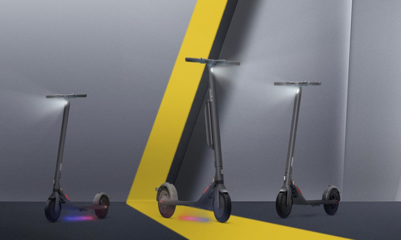 Patinetes eléctricos Ninebot E22E, E25E e E45E