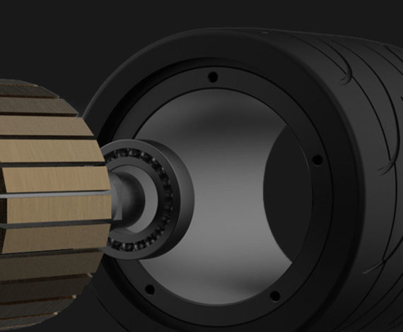High-Power Hub Motor, Unique Tread Design